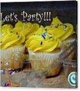 Let's Party Cupcakes Canvas Print