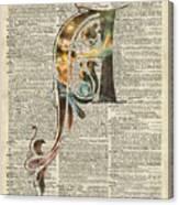 Letter A Monogram Canvas Print