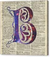 Letter B Monogram Canvas Print
