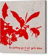 Letting Go  Canvas Print
