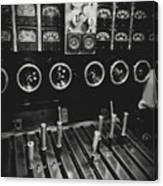Levers And Gauges Canvas Print