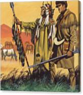 Lewis And Clark Expedition Scene Canvas Print