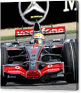 Lewis Hamilton, Mclaren- Mercedes Mp4-22 Canvas Print