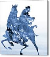 Li Shang-blue Canvas Print
