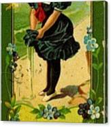 Libbys Bookmark Vintage With Girl On Beach Canvas Print