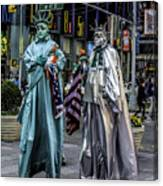 Liberties In Times Square Canvas Print