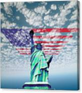 Liberty And Flag Canvas Print