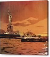 Liberty Island- New York Canvas Print