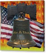 Liberty On Fire Canvas Print