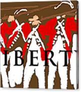 Liberty Revolution Brown Canvas Print