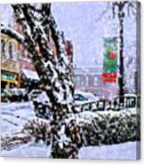 Liberty Square In Winter Canvas Print