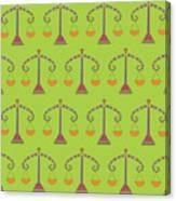 Libra Zodiac Sign Pattern Canvas Print