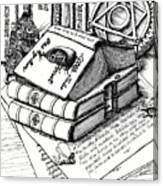 Library Book Fairy House Canvas Print