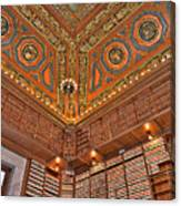 Library Details Canvas Print