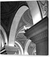 Library Of Congress 3 Black And White Canvas Print