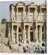 Library Ruins At Ephesus Turkey Canvas Print