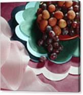 Lichees And Grapes Canvas Print