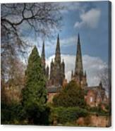 Lichfield Cathedral Canvas Print