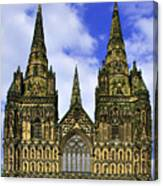 Lichfield Cathedral - The West Front Canvas Print