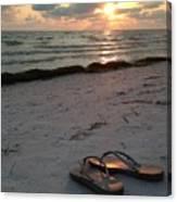Lido Beach Sandals Canvas Print
