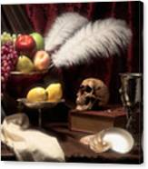 Life And Death In Still Life Canvas Print