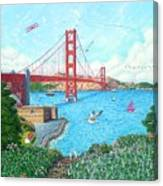 Life At The Golden Gate Canvas Print