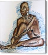 Life Drawing Study Canvas Print