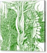 Life Force  - Green Canvas Print