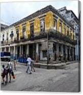 Life In Old Town Havana Canvas Print