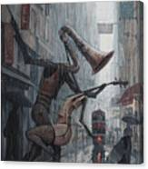 Life Is  Dance In The Rain Canvas Print