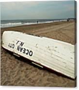 Lifeguard Boat Ocean City, Nj Canvas Print