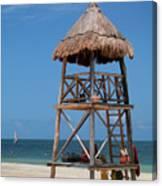 Lifeguard Chair - Riviera Maya Mexico Canvas Print