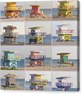 Lifeguard Houses Canvas Print