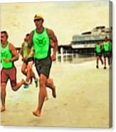 Lifeguard Runners Canvas Print