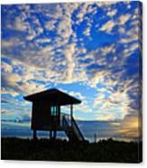 Lifeguard Station Sunrise Canvas Print