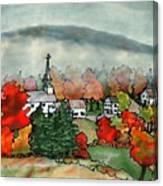 Lifting Fog Silk Painting Canvas Print