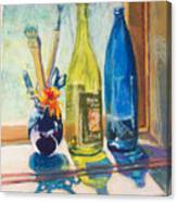Light And Bottles Canvas Print