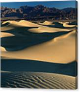 Light And Shadows In The Mesquite Sand Dunes Of Death Valley Canvas Print