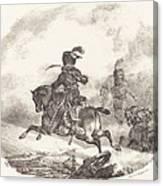 Light Artillery Officer Of The  Imperial Guard (officier D'artillerie Legerie De La  Garde Imperiale) Canvas Print