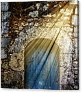 Light At The Blue Door Canvas Print