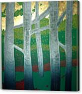 Light Between The Trees Canvas Print