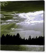 Light Blast In Evening Canvas Print