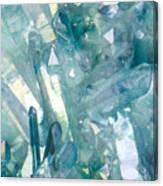 Light Blue Crystals Canvas Print