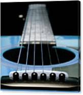 Light Blue Guitar 13 Canvas Print