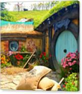 Light Blue Hobbit Door Canvas Print