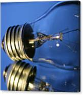 Light Bulb - Blue Canvas Print