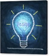 Light Bulb Design Canvas Print
