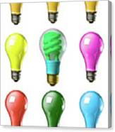 Light Bulbs Of A Different Color Canvas Print
