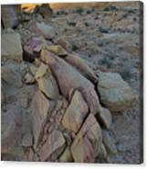 Light Fading On Valley Of Fire Canvas Print