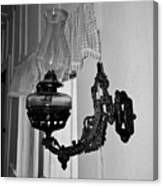 Light From The Past B W Canvas Print